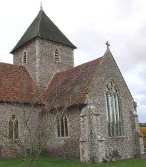 Holy Innocents Church Tower, Adisham from the SW